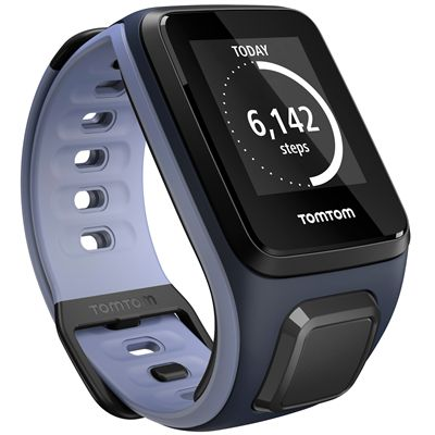 TomTom Runner 2 Small GPS Sports Watch-Sky Captain Blue and Purple-Right Activity