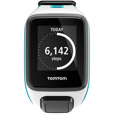 TomTom Runner 2 Small GPS Sports Watch-White and Blue-Front Activity