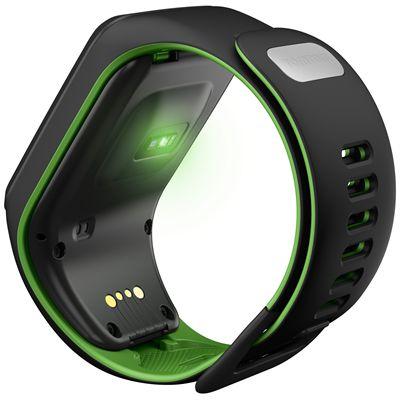 TomTom Runner 3 Cardio Music Small  Heart Rate Monitor-Black/Green-Back