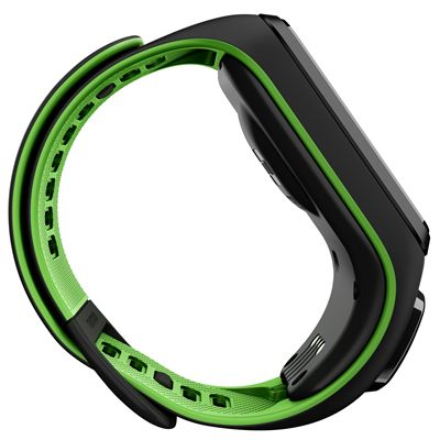 TomTom Runner 3 Cardio Music Small  Heart Rate Monitor-Black/Green-Side