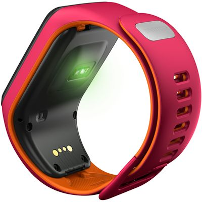 TomTom Runner 3 Cardio Music Small  Heart Rate Monitor-Pink/Orange-Back