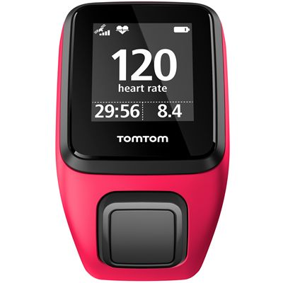 TomTom Runner 3 Cardio Music Small  Heart Rate Monitor-Pink/Orange-Cardio Front