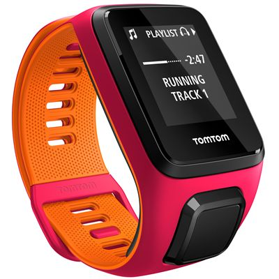 TomTom Runner 3 Cardio Music Small  Heart Rate Monitor-Pink/Orange-Music