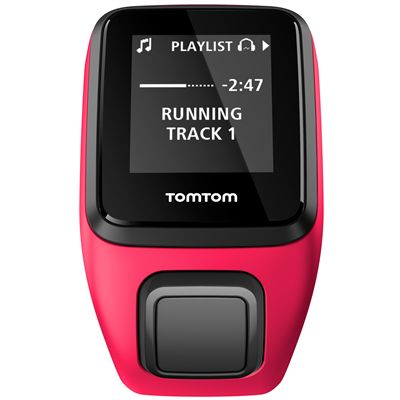 TomTom Runner 3 Cardio Music Small  Heart Rate Monitor-Pink/Orange-Music Front