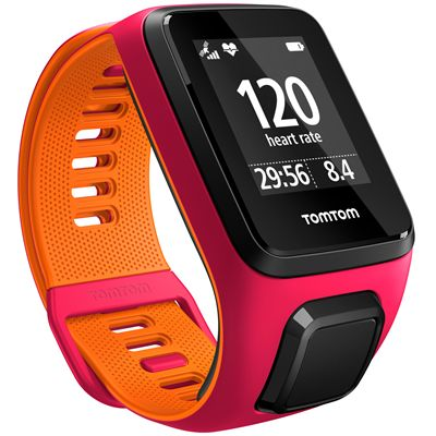 TomTom Runner 3 Cardio Music Small  Heart Rate Monitor-Pink/Orange