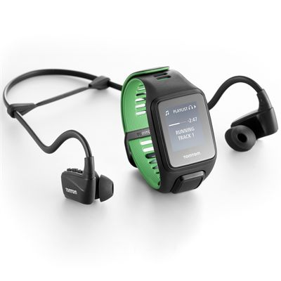 TomTom Runner 3 Cardio Music Small Heart Rate Monitor with Headphones