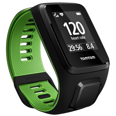 TomTom Runner 3 Cardio Small  Heart Rate Monitor-Black/Green