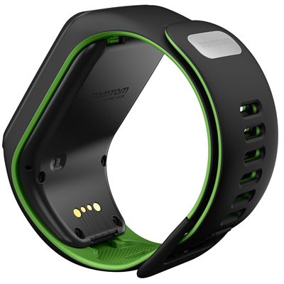 TomTom Runner 3 Large GPS Sports Watch-Black/Green-Back