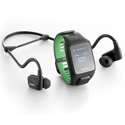 TomTom Runner 3 Music Large GPS Sports Watch with Headphones