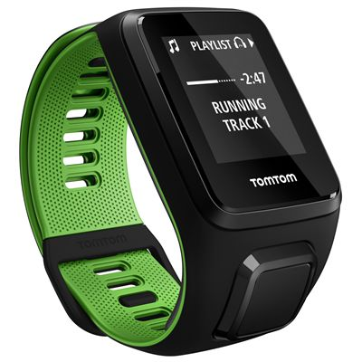 TomTom Runner 3 Music Small GPS Sports Watch Angled