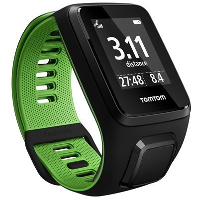 TomTom Runner 3 Small GPS Sports Watch-Black/Green