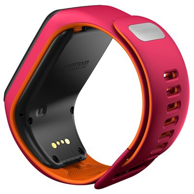 TomTom Runner 3 Small GPS Sports Watch-Pink/Orange-Back