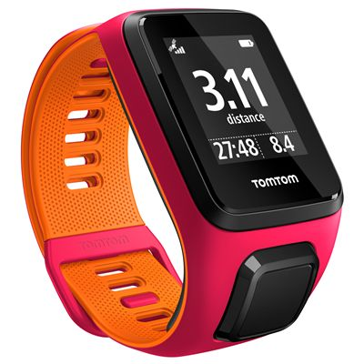TomTom Runner 3 Small GPS Sports Watch-Pink/Orange