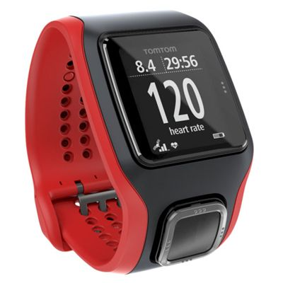 TomTom Runner Cardio GPS Heart Rate Monitor - Black/Red