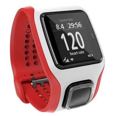TomTom Runner Cardio GPS Heart Rate Monitor - White/Red