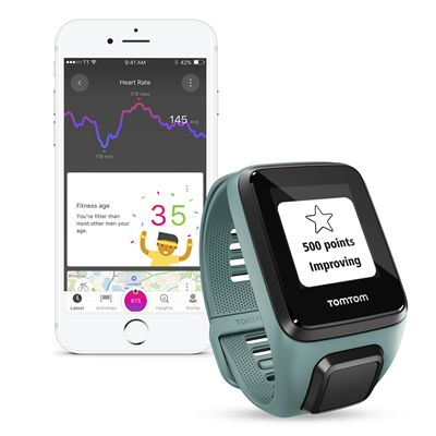 TomTom Spark 3 Cardio Small Heart Rate Monitor - Aqua - App2