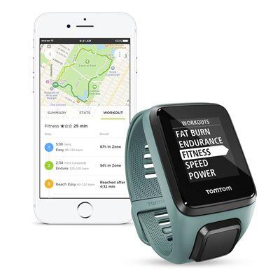 TomTom Spark 3 Small GPS Sports Watch - Aqua - App1