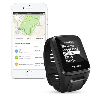 TomTom Spark 3 Small GPS Sports Watch - Black - App1