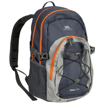 Trespass Albus 25L Backpack-Navy/Orange