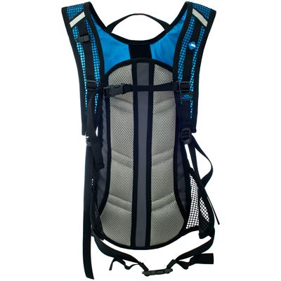 Trespass Mirror 15L Hydration Backpack-Black/Blue-Back