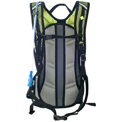 Trespass Mirror 15L Hydration Backpack-Black/Lime-Back