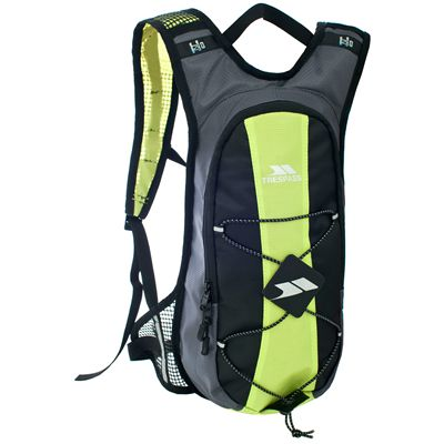 Trespass Mirror 15L Hydration Backpack-Black/Lime