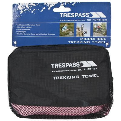 Trespass Soaked Towel-Pink-Packaging