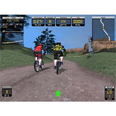 Trixter Xdream Indoor Exercise Bike - simulation screen 2