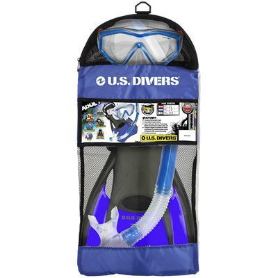 U.S. Divers Anacapa LX Snorkel Set with Fins-Package