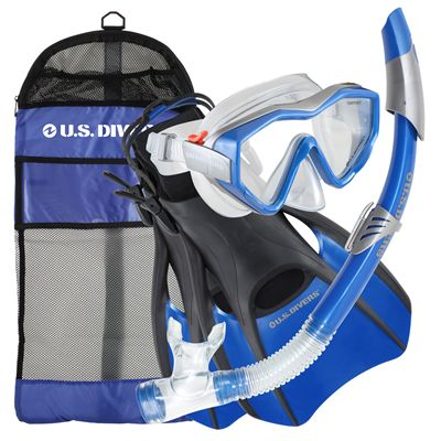 U.S. Divers Anacapa LX Snorkel Set with Fins