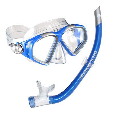 U.S. Divers Cozumel LX Mask and Airent Snorkel Set-Blue