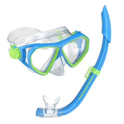 U.S. Divers Dorado Mask and Seabreeze Snorkel Junior Snorkel Set-Blue
