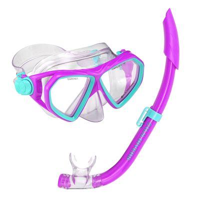 U.S. Divers Dorado Mask and Seabreeze Snorkel Junior Snorkel Set-Purple