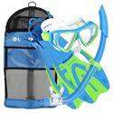 U.S. Divers Dorado Mask and Seabreeze Snorkel and Proflex Fins SCUBA Set-Blue