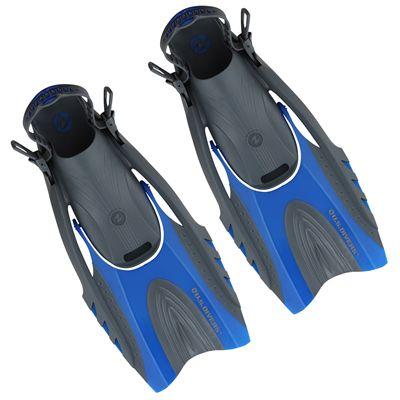 U.S. Divers Hingeflex Fins - Blue - Pair View