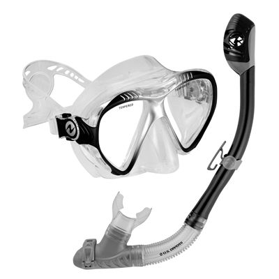 U.S. Divers Magellan LX Mask and Tucson LX Snorkel Set-Black