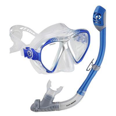 U.S. Divers Magellan LX Mask and Tucson LX Snorkel Set-Blue