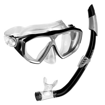 U.S. Divers Na Pali LX Mask and Seabreeze Snorkel Set-Black