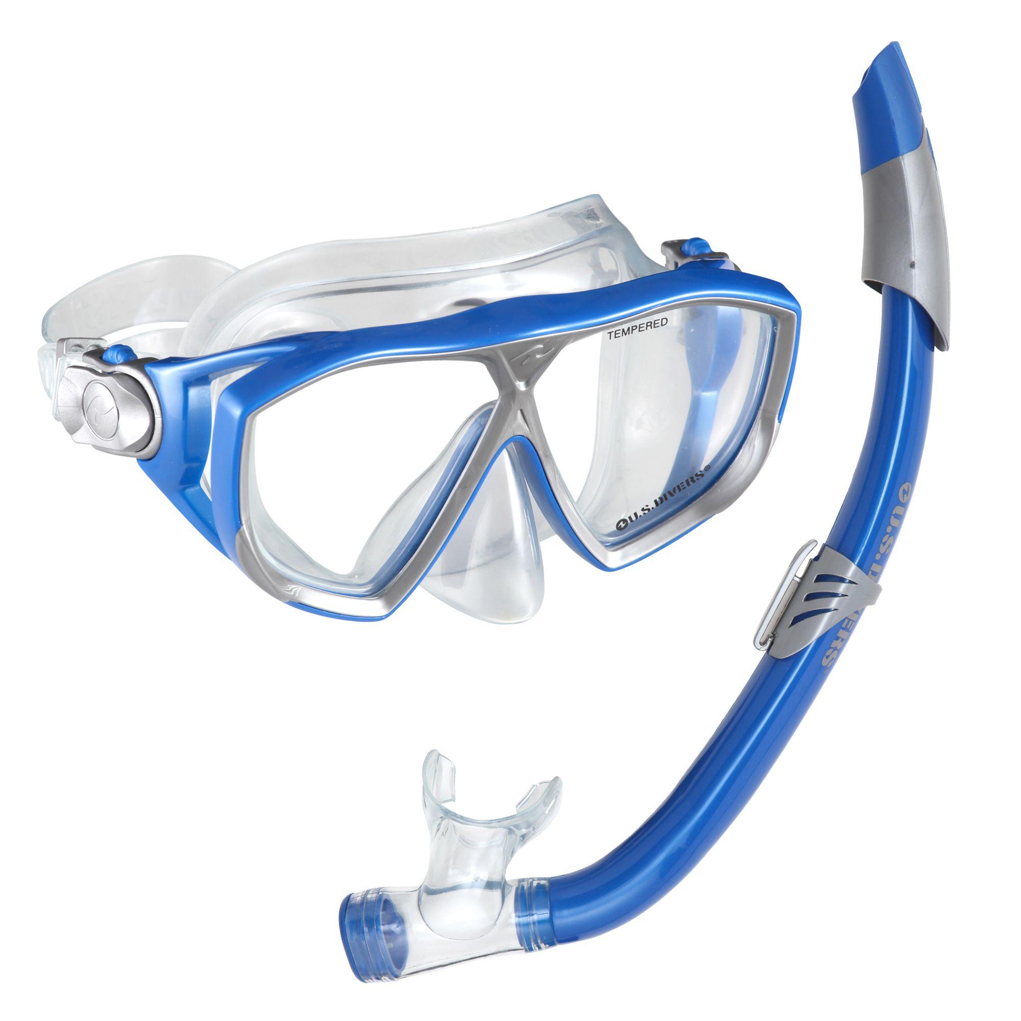 U S Divers Na Pali Lx Mask And Seabreeze Snorkel Set
