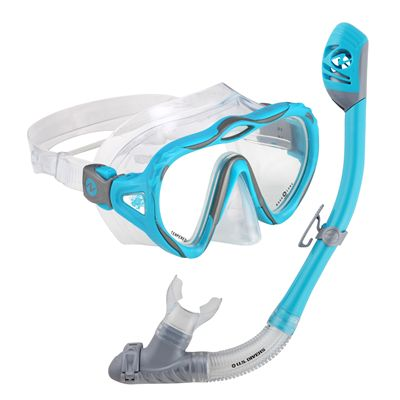 U.S. Divers Starlett LX Mask and Tucson Snorkel Set-Blue
