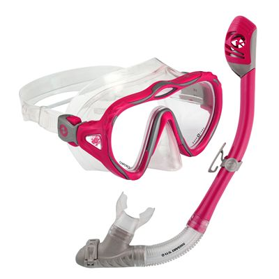 U.S. Divers Starlett LX Mask and Tucson Snorkel Set-Pink