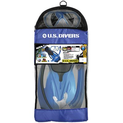 U.S. Divers Yucatan Snorkel Set with Fins-Package