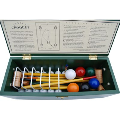 Uber Games Carpet Croquet Set - Inside Box