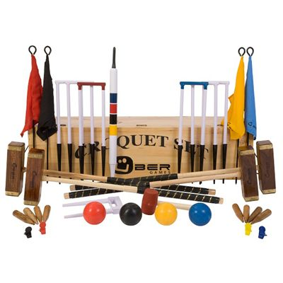 Uber Games Championship Croquet Set 3 - Wooden Box