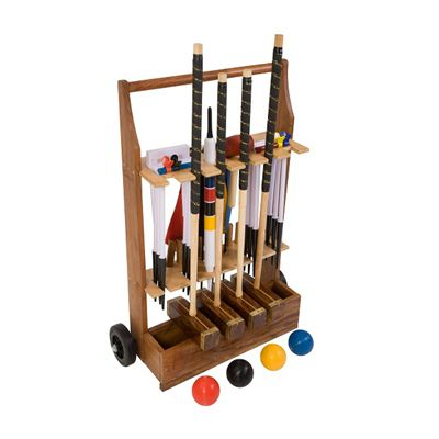 Uber Games Championship Croquet Set 4 - Trolley