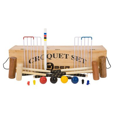 Uber Games Family Croquet Set 3 - Wooden box