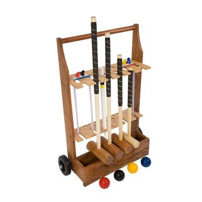 Uber Games Family Croquet Set 4 - Trolley
