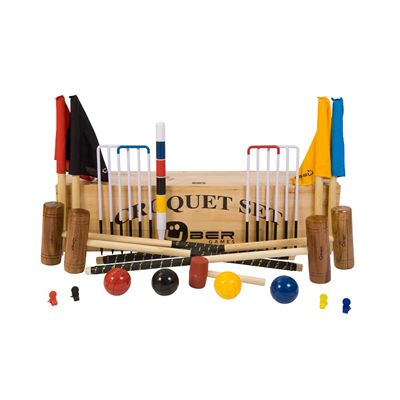 Uber Games Garden Croquet Set 3 - Wooden Box