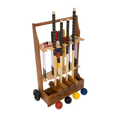 Uber Games Garden Croquet Set 4 - Trolley