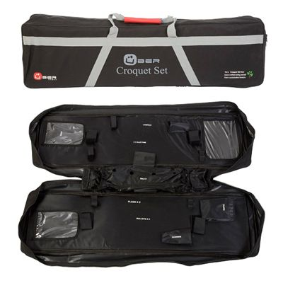 Uber Games Tool Kit Croquet Set Bag open and closed image